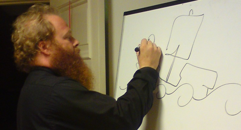 Jonas Ahlner ritar och berättar