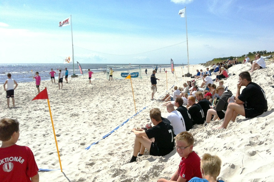 Beach Football på Borrbystrand